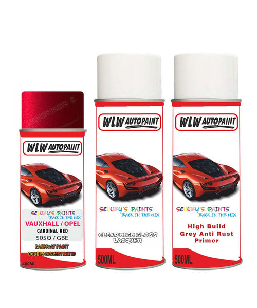 VAUXHALL AMPERA-E CARDINAL RED Spray Paint + Anti Rust Primer Undercoat