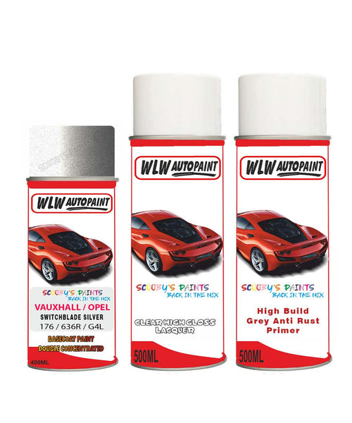 VAUXHALL AMPERA-E SWITCHBLADE SILVER Spray Paint + Anti Rust Primer Undercoat