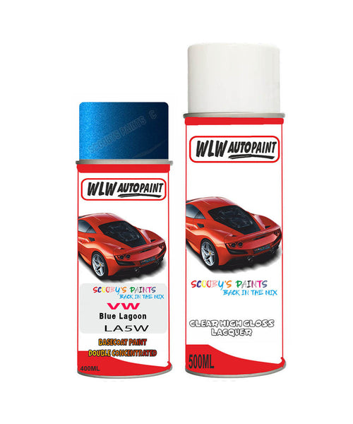 volkswagen polo fun blue lagoon aerosol spray car paint clear lacquer la5wBody repair basecoat dent colour