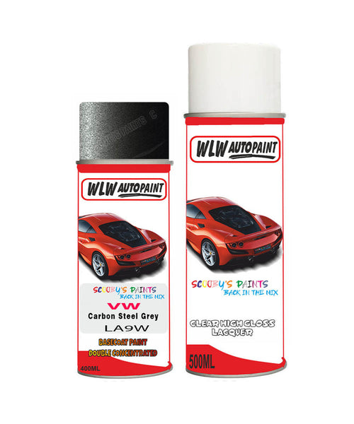 Vw Golf Gti Carbon Steel Grey Aerosol Spray Car Paint + Lacquer La9W