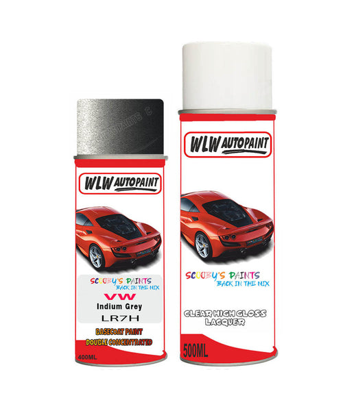 Volkswagen Golf R Indium Grey Aerosol Spray Car Paint + Clear Lacquer Lr7H