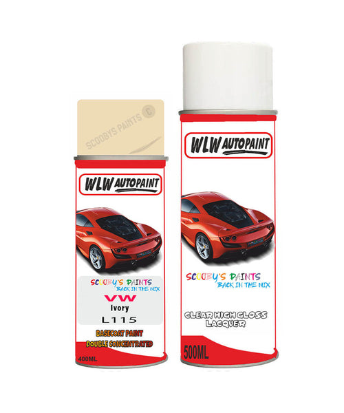 Vw Passat Limo Ivory Aerosol Spray Car Paint + Lacquer L115
