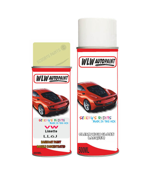 Volkswagen Polo Fun Limette Aerosol Spray Car Paint + Clear Lacquer Ll6J