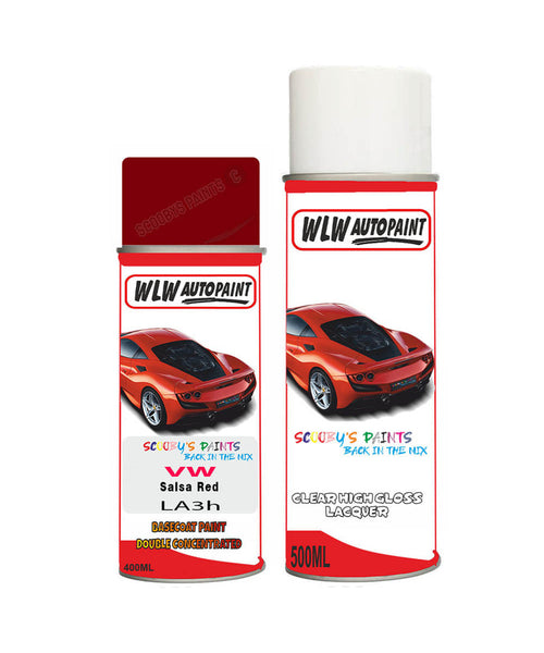 Volkswagen Jetta Gli Salsa Red Aerosol Spray Car Paint + Clear Lacquer La3H