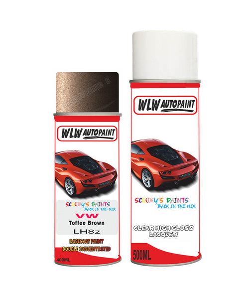 Volkswagen Golf Toffee Brown Aerosol Spray Car Paint + Clear Lacquer Lh8Z