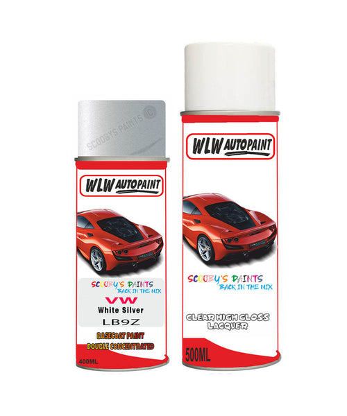 Volkswagen Jetta Gli White Silver Aerosol Spray Car Paint + Clear Lacquer Lb9Z