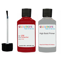 Vw Car Touch Up Paint Anti Rust Primer Undercoat Tornado Red