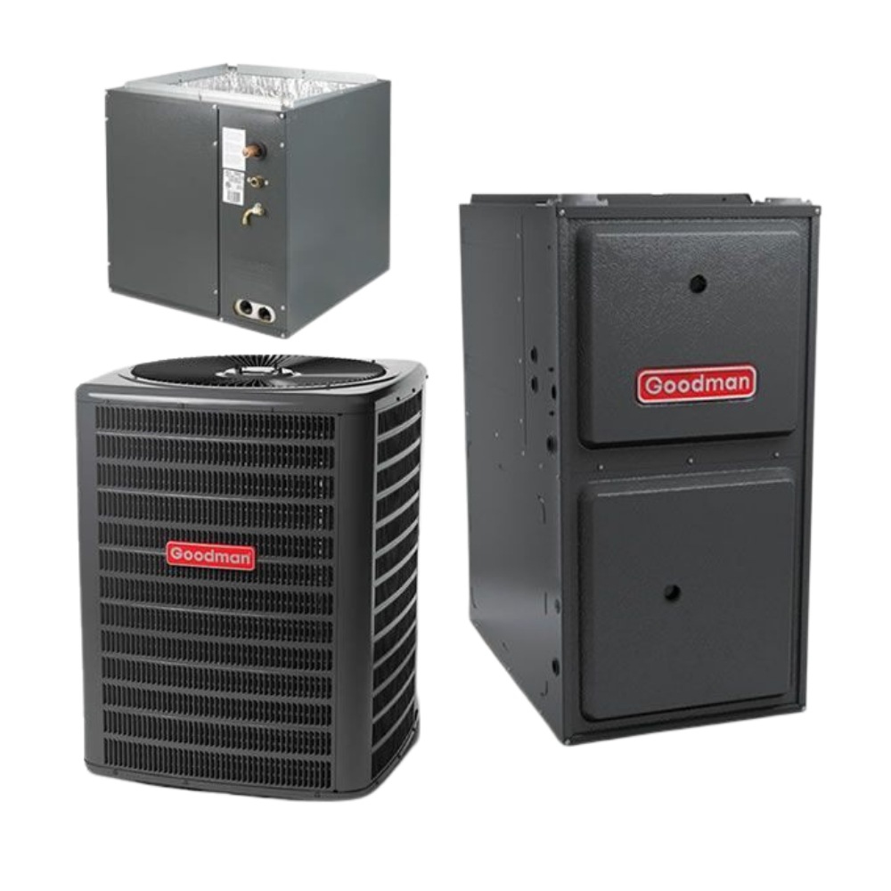 Goodman 3 Ton 14 SEER 80% AFUE Gas Air Conditioner System