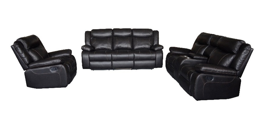 SALEM - UPHOLSTERY 3 PIECE LEATHER SOFA SET