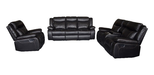 SALEM - UPHOLSTERY 3 PIECE LEATHER SOFA SET - AllStarFurniture