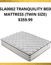 SLA0002 TRANQUILITY BED MATTRESS (TWIN SIZE)