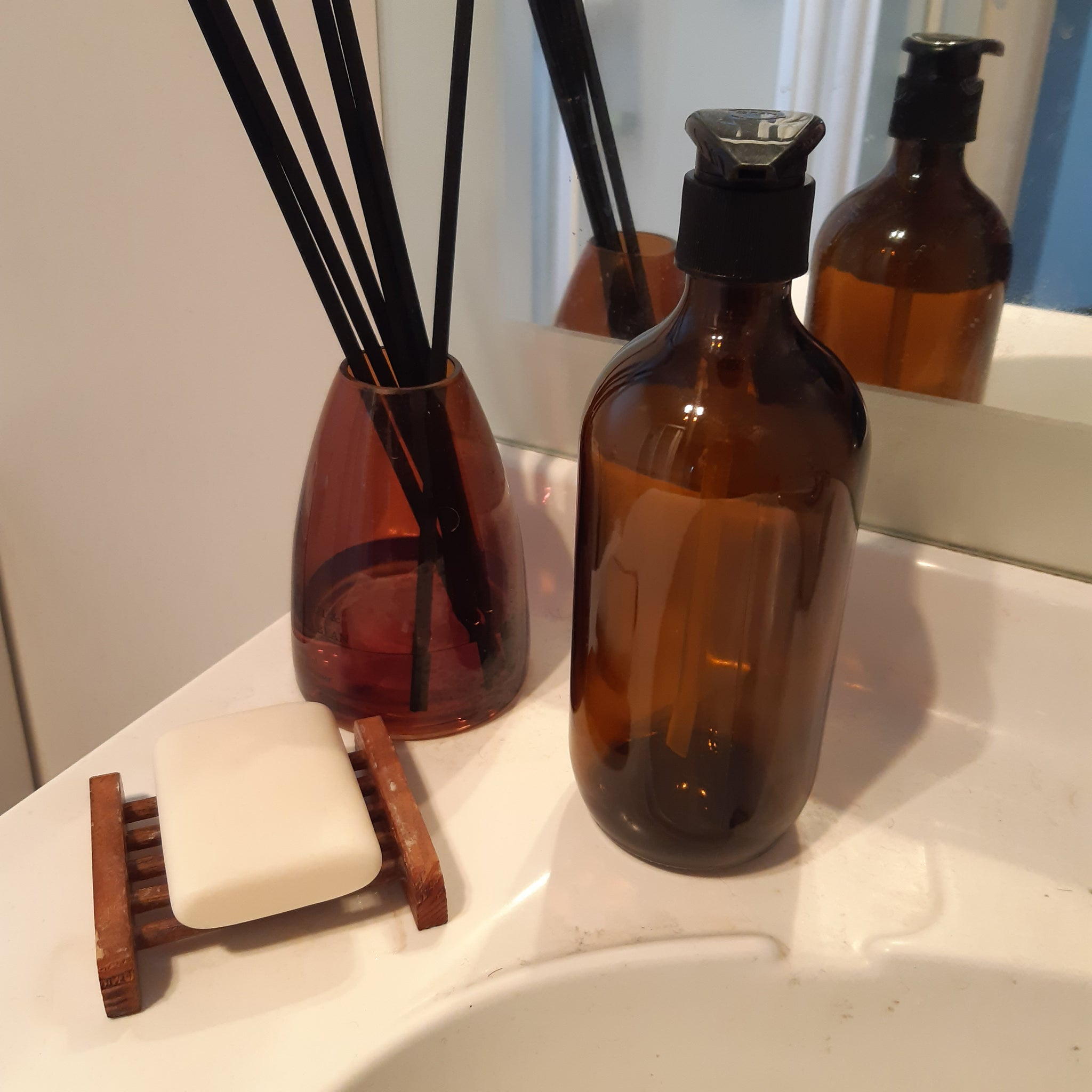 Soap/Shampoo Amber Glass Bottle - Zest - for life