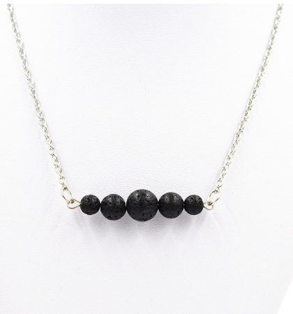 Lava Stone Link Necklace - Zest - for life