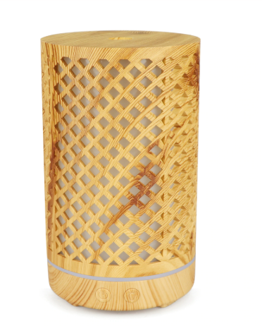 Light Wooden Criss Cross Diffuser - Zest - for life