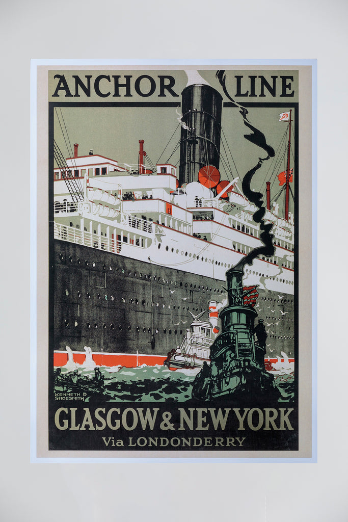 ANCHOR LINE POSTER - GREY BLACK RED