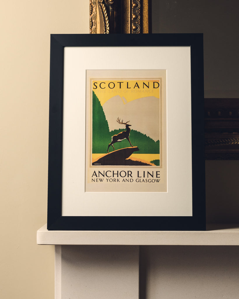 ANCHOR LINE FRAMED - ROMANCE