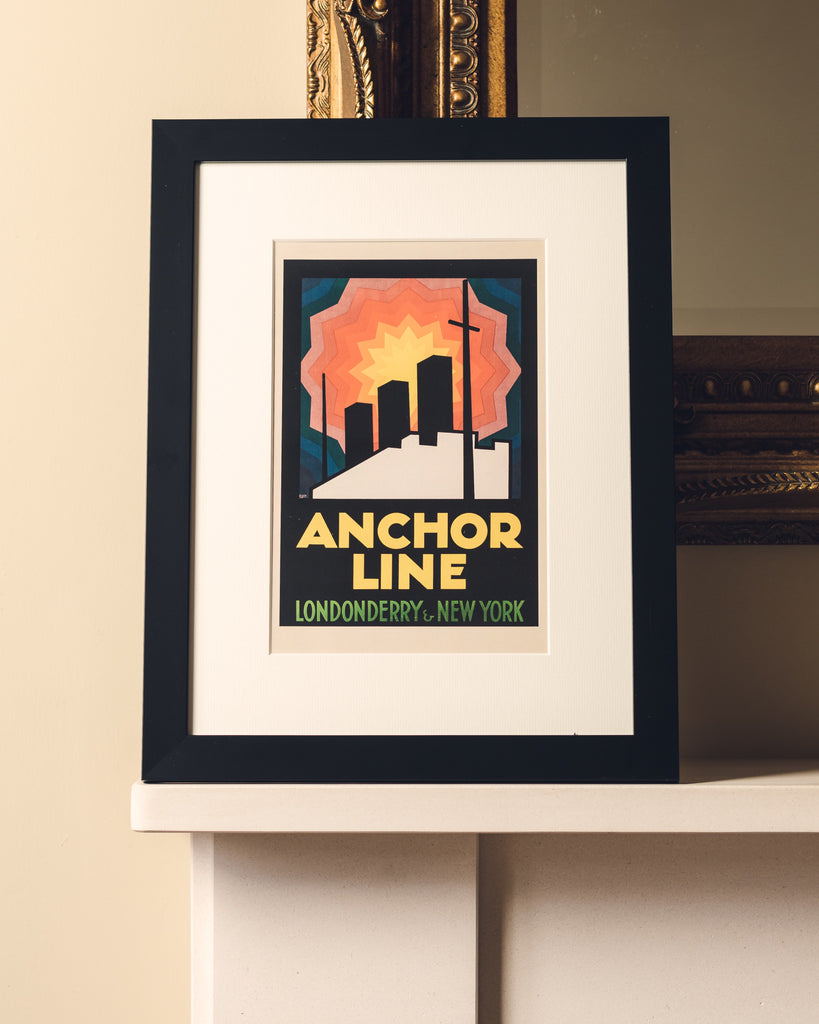 ANCHOR LINE FRAMED - BOLD GRAPHIC