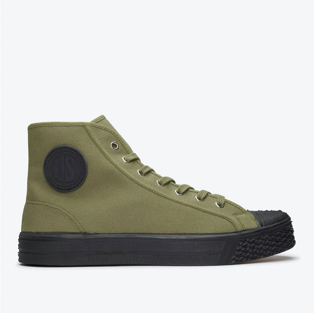 US RUBBER CO HIGH TOP SNEAKER GREEN