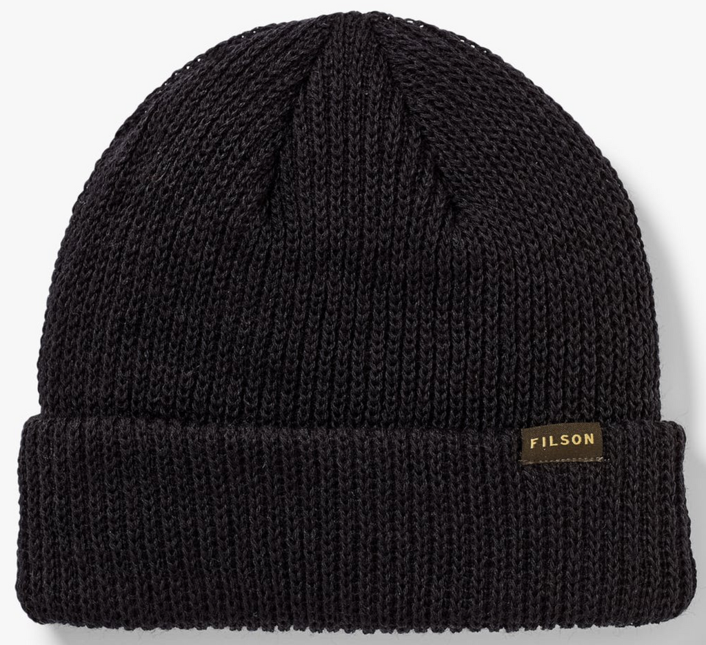 FILSON WATCH CAP BEANIE BLACK