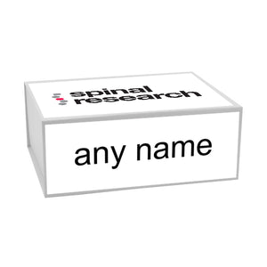 Memory Box with Spinal Research Logo Design and Name Personalisation - Available in 4 Sizes