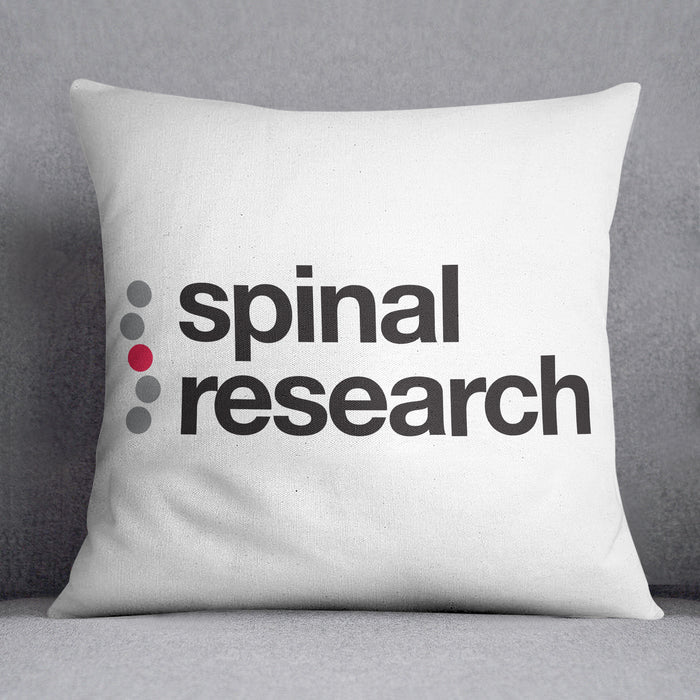 Canvas Cushion - Spinal Research Logo Design