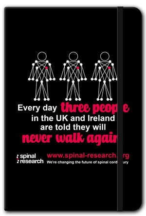 A5 Soft Touch Notebook - Campaign 'Every Day 3 People'