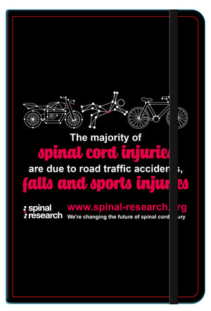 A5 Soft Touch Notebook - Campaign 'The Majority of Spinal Cord Injuries'