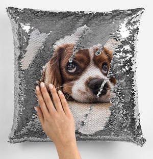 Magic Sequin Cushion - Own Photo Upload Option - Available in 6 Colours