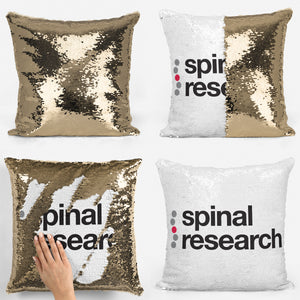 Magic Sequin Cushion - Spinal Research Logo Design - Available in 6 Colours