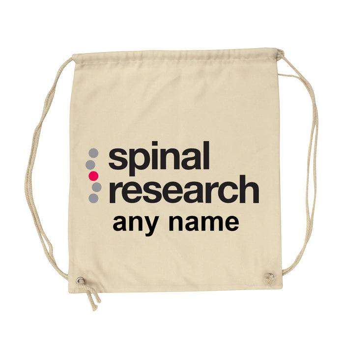 Gym Sack - Spinal Research Logo Design & Name Personalisation