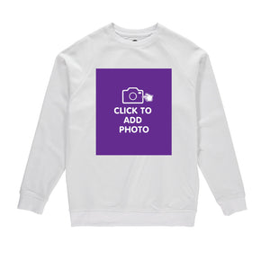 Mens Sweatshirt - Own Photo Upload Option (front only)