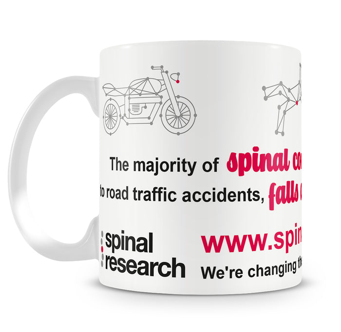 10oz Tea/Coffee Ceramic Mug - Campaign 'The Majority of Spinal Cord Injuries'