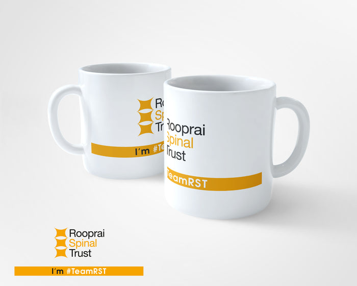 10oz Tea/Coffee Ceramic Mug - Rooprai Spinal Trust Logo