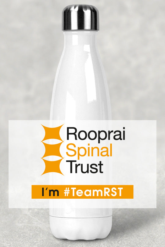 Stainless Steel Water Bottle (500ml) - Rooprai Spinal Trust Logo