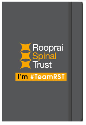 A5 Soft Touch Notebook - Rooprai Spinal Trust Logo