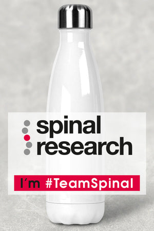 Stainless Steel Water Bottle (500ml) - Team Spinal Research Logo