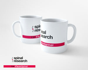 10oz Tea/Coffee Ceramic Mug - Team Spinal Research Logo