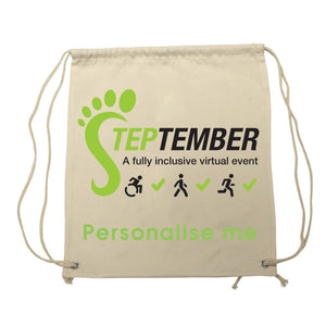 Gym Sack - Personalised Steptember Logo