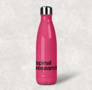 Stainless Steel Water Bottle (500ml) - Spinal Research Logo Design