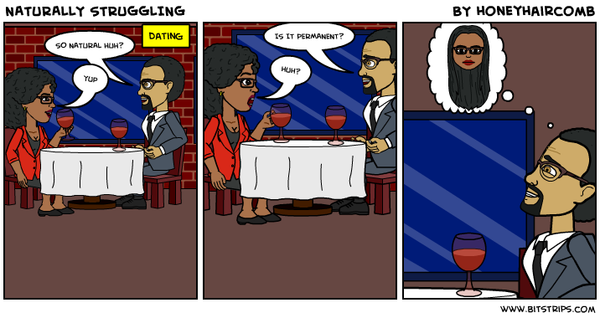 Naturally Struggling Date Nightmare comic strip