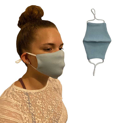 Turquoise Cotton Reusable Face Mask