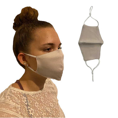 Beige Cotton Reusable Face Mask