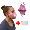 WASHABLE PINK RESPIRATOR VALVE FACE MASK