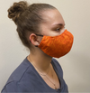 Orange Pattern Cotton Face Mask