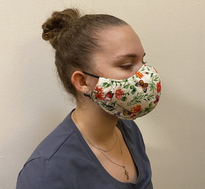 Cotton Flower Butterfly Mask