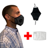 WASHABLE BLACK RESPIRATOR VALVE FACE MASK