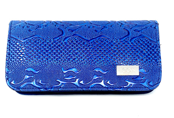 ICON Fancy 4 Shears Professional Shears Case BLUE *HOT NEW COLOR*