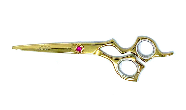 6.5 ICON GOLD Titanium Coated Shears Scissors ICT-300