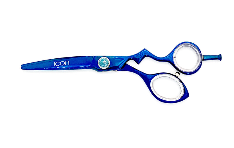 "6"" ICON Blue Titanium Coated Shears Scissors ICT-100"