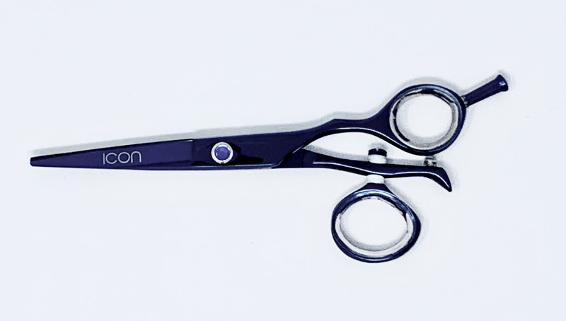 "5.5"" ICON Blue Titanium Swivel Thumb Shears Scissors ICT-125"